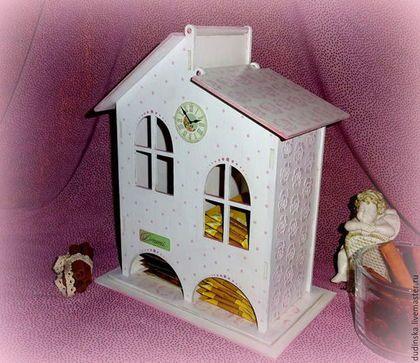 Кухня ручной работы. Заказать Чайный домик двойной Розы на белом. Бирюзовый Дом. Ярмарка Мастеров. Чайный домик белый