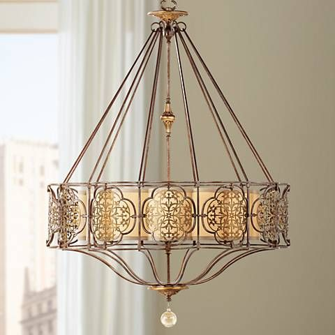 "Feiss Marcella 32 1/4"" Wide British Bronze Chandelier - #W1936 