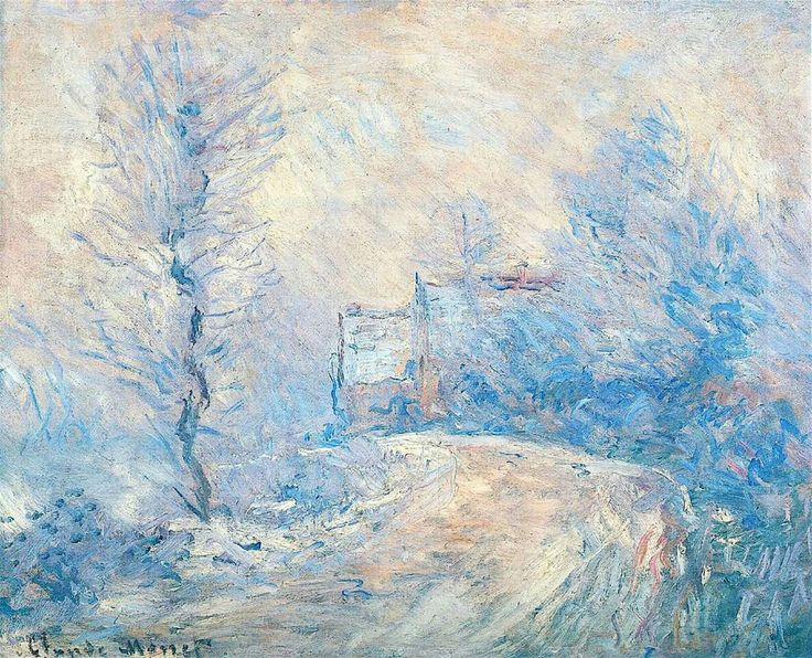 Claude Monet - The Entrance To Giverny Under The Snow - 1885