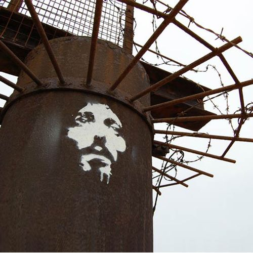 Jesus Stencil in Brighton, England from Orticanoodles