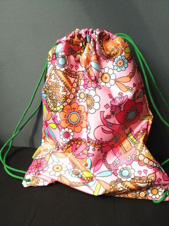 drawstring kit bag by Rhodalily on Etsy, £14.00