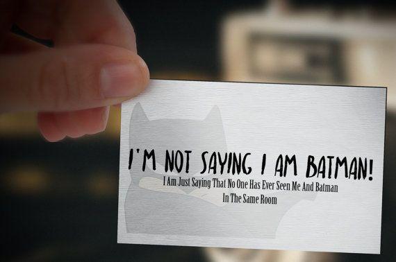Batman Business Card Template - Printable business card design, business card template, custom business card, batman, batman business card