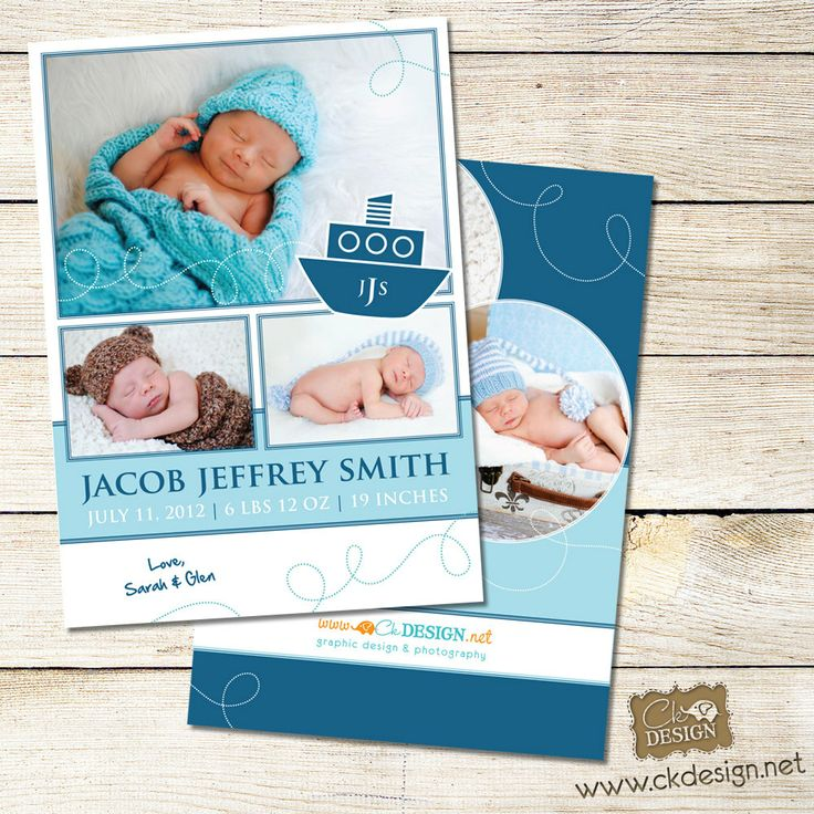 1000 images about Birth Announcements – Printed Birth Announcements