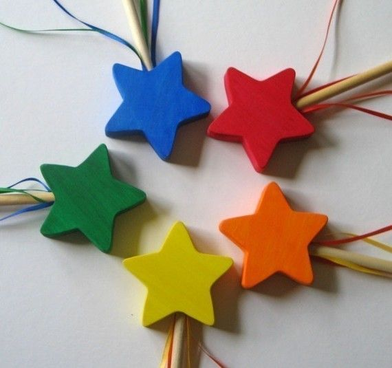 Fairy wand- Wooden Wand- Star- Eco-friendly toy- Imagination Kids on Etsy, $6.00