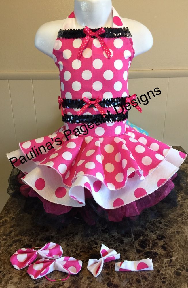 National Pageant Polka Dot Spring Easter Minnie Mouse Casual Wear Dress 3-5t OOC  | eBay