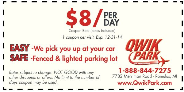 Park Sleep Fly deals with DTW long term parking options