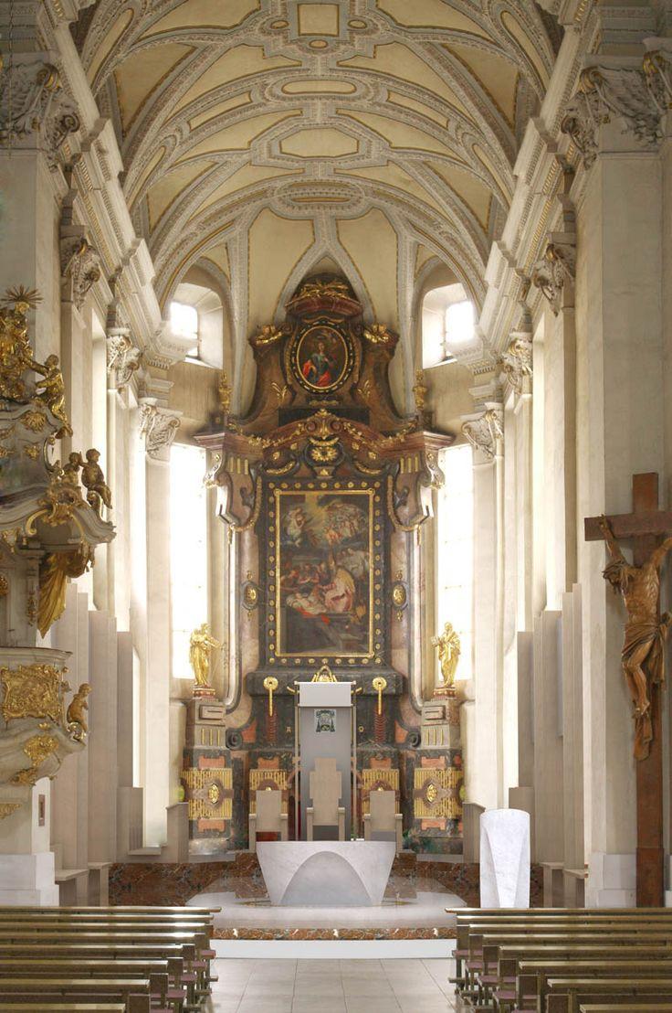 Interior of St.Nicolas cathedral in České Budějovice (South Bohemia), Czechia…