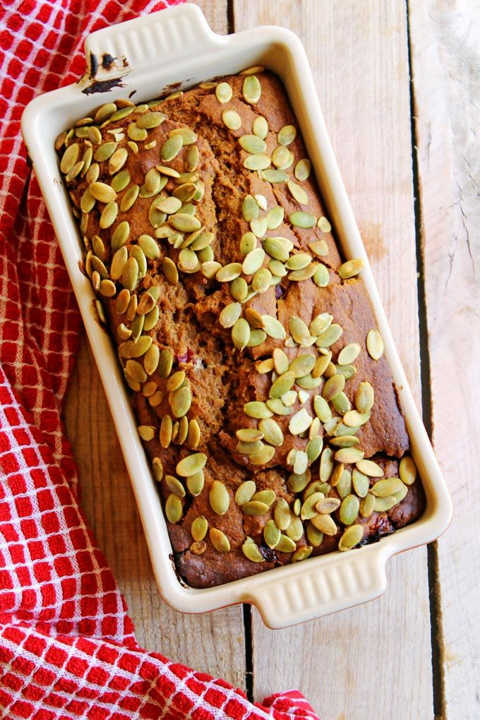 A healthier take on classic pumpkin quick bread! This pumpkin cranberry rye bread is moist, and packed with deep rich flavor from whole grain dark rye flour.