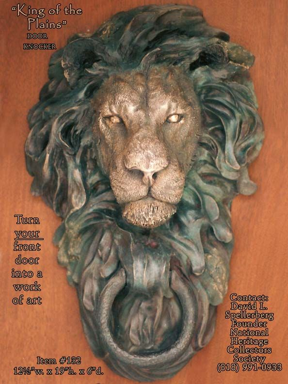 Great American Bronze Works, Inc. - Sculptures - Big Horn Door Knocker