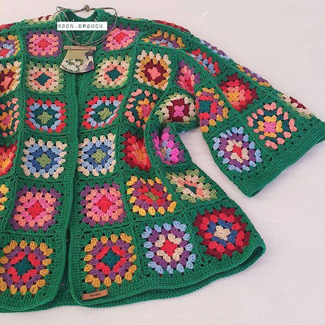 ♡☘Günaydın☘♡•••♡ve bir yeşil daha biter♡☘♡♡•☘☘♡ ♧ ♧♧ ♧ ♧ °°° #handmade #knittingofinstagram #crochetaddict #häkeln #virka #hekling #homedesign #like4like #colourful #coffee #creative #fashion #moda #hırka #kimono #design #crochetofinstagram #kış #yarnartjeans #crochetlove #tığişi #hobby #homedesign #örgü #motif #grannysquare #green #günaydın @ayse_m.f.h.s