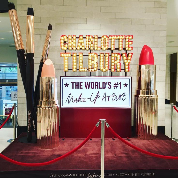 "NORDSTROM,Seattle, Washington, ""Give a woman the right makeup and she can conquer the world"", for Charlotte Tilbury, pinned by Ton van der Veer"