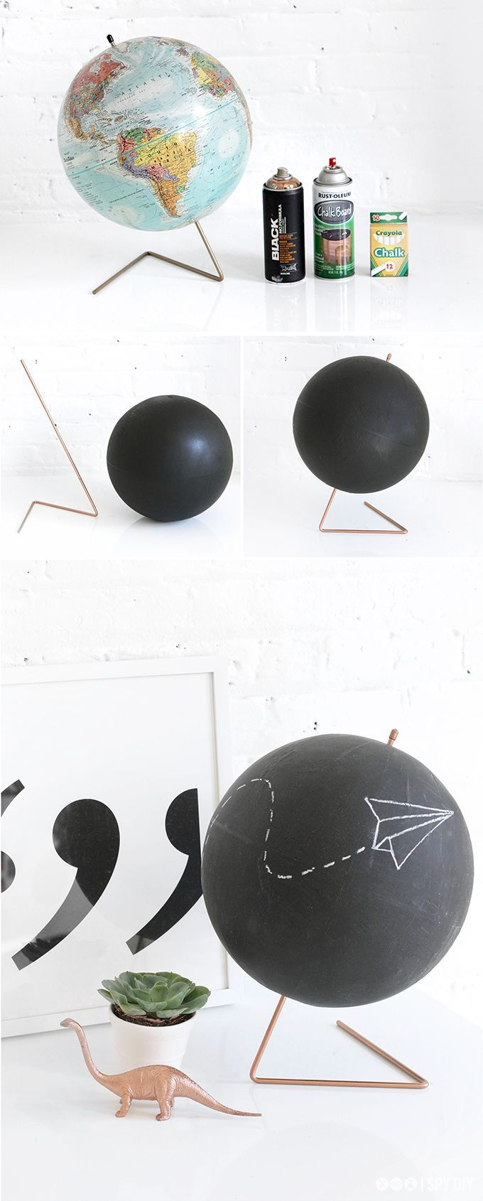 MY DIY | Copper Chalkboard Globe | I SPY DIY