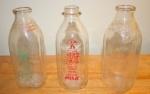Antique Milk Bottles – Vibrant Graphics and Catchy Slogans - $20 each