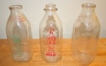 Antique Milk Bottles – Vibrant Graphics and Catchy Slogans - $20 each