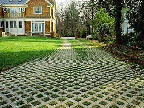 Bob's Tip of the Day: Your driveway can either absorb water or shed it. Some driveway materials, like brick and pavers, are permeable because the little spaces between them allow water back into the ground where it belongs. A driveway that's covered in a nonporous material like concrete or asphalt needs to be pitched in a way that directs water away from your home, or it needs a drainage trench along the side to divert water.