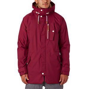 Colour Wear Strike Parka Snow Jacket - Burgundy | Free UK Delivery*