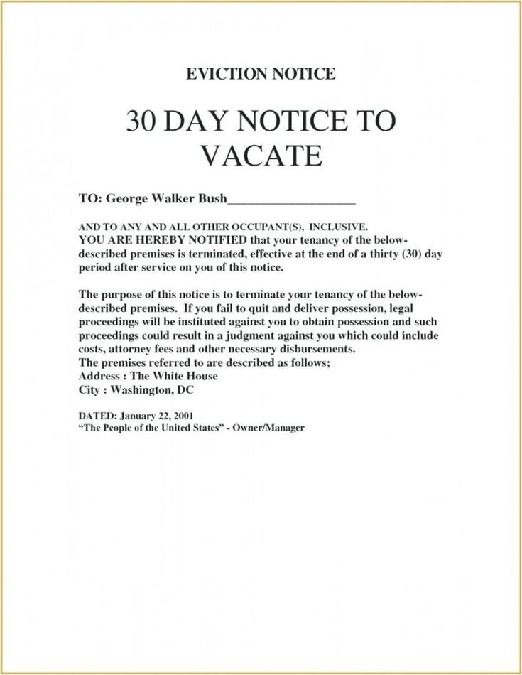 39++ Notice to vacate letter to tenant inspirations