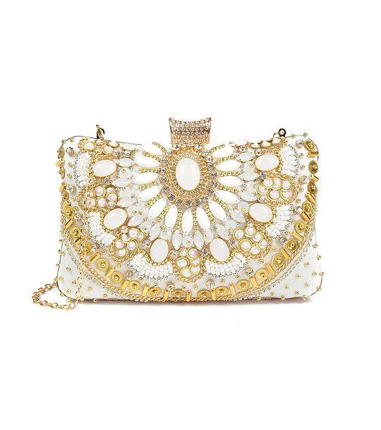 FashionSupreme - Geantă de culoare albă Karmen - Accesorii - Genţi - Carla Ferreri - noua colecție de primăvară-vară. Haine şi accesorii de marcă. Haine de designer.