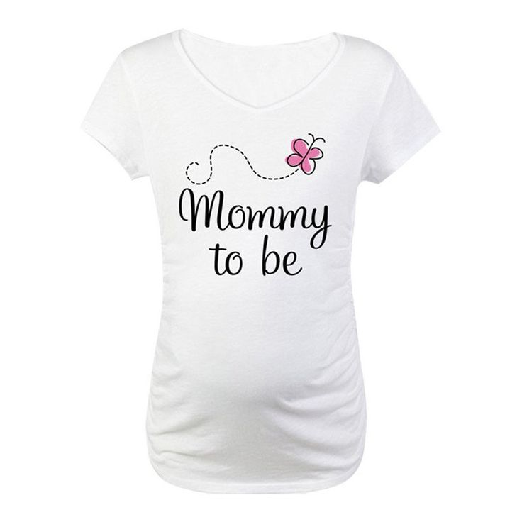 """Mommy To Be"" Maternity Tee Perfect to wear for you baby shower!"