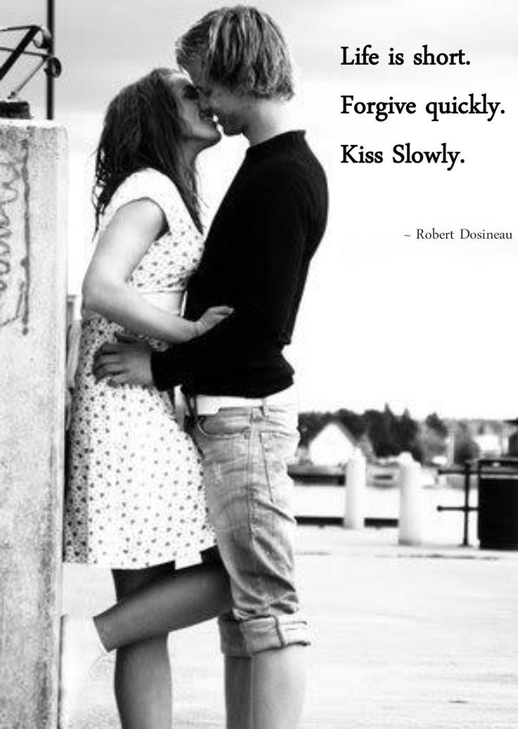 Kissing the one we love brings out joyful emotions that make us feel complete and happy. If you're looking for some inspiration kiss quotes, these romantic quotes will help you express how kissing makes you feel. A first kiss is the demarcation line: the same information that a moment ago felt private, all of a sudden seems unfair to withhold.