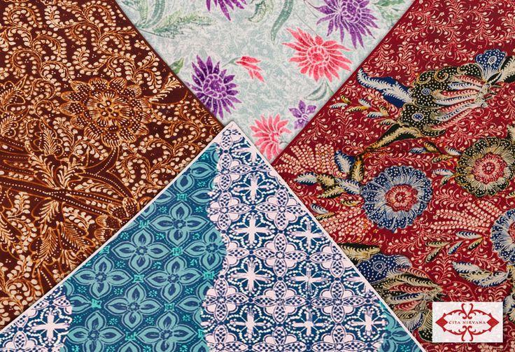 Cita Nirvana, sebuah clothing brand yang mengangkat budaya tradisional Indonesia melalui Batik. Semua produknya asli handmade, hand-drawn, hand-stamped, dan sebagian natural dyed. Cita Nirvana membawa koleksi kain batik otentik dengan kualitas asli buatan tangan Indonesia dengan pilihan berbagai motif tradisional kombinasi warna-warna cantik.