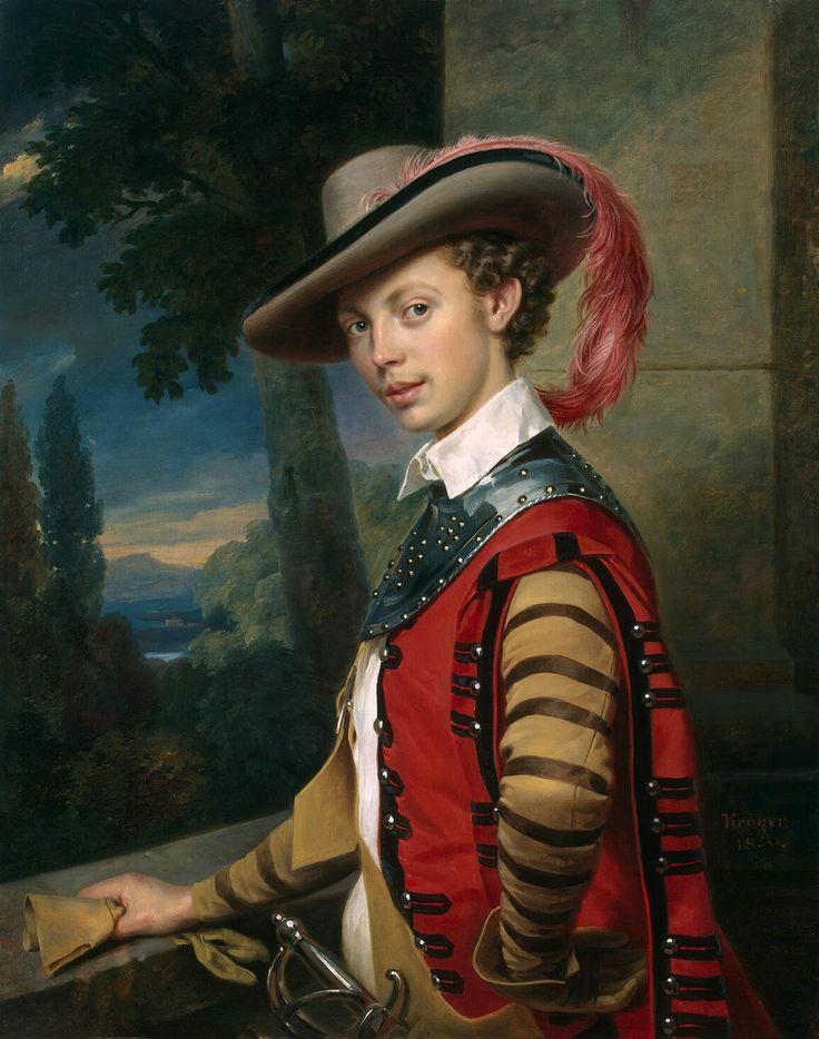 Portrait du prince Nicolas Saltykov  (1850, Musée de l'Ermitage, Saint-Pétersbourg) de Franz Kruger (1797-1857)