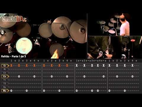 """Video aula do curso de bateria com o João de Paula do CifraClub. Como tocar a música """"Seven Nation Army"""" - The White Stripes."""