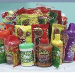 Mexican candies yeah chilly sweet sour stuff HEAVY BREATHING
