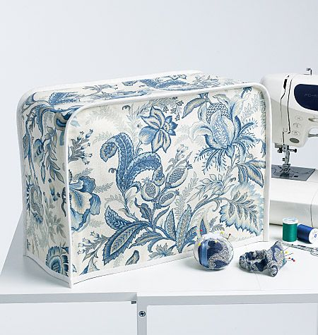 blue and white -- sewing machine cover - Butterick 5636