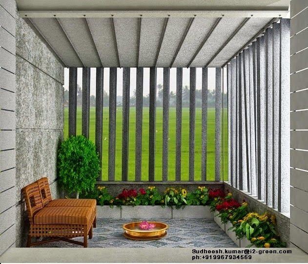 Veedu Designs Interior Design Vertical Pergola Outdoor