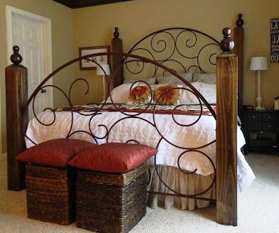 Wrought iron bed.  Gorgeous!