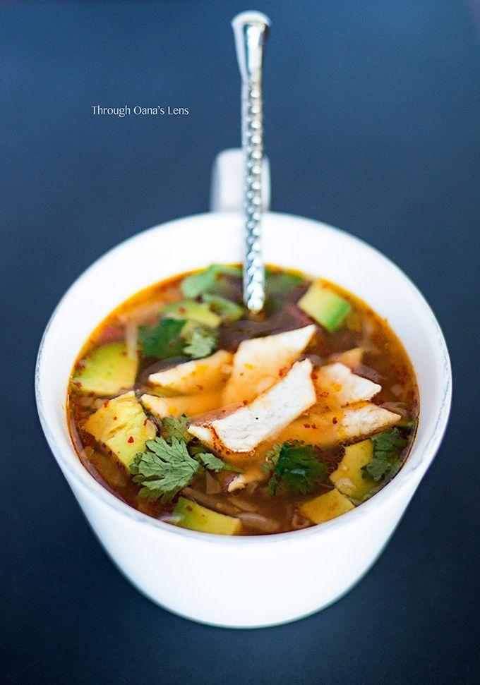 Mexican Caldo Tlalpeno Soup recipe   Adore Foods  www.adorefoods.com