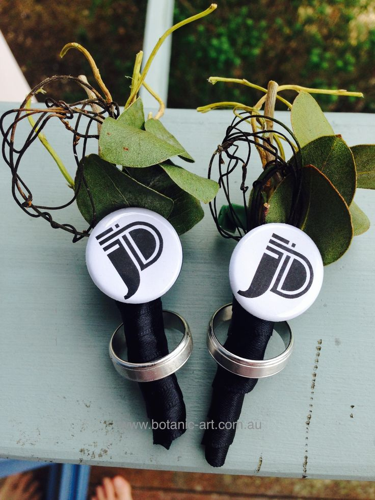 #personalised #buttonholes #his and his #groom #boys #rustic #countrystyle