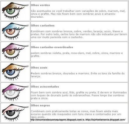 Meu Mundo...: Como maquiar o seus olhos