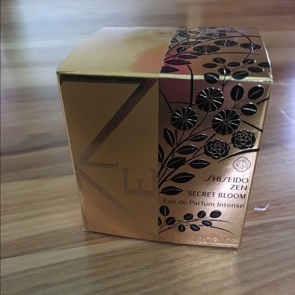 Shiseido zen secret bloom perfume 1.6 oz Brand new 1.6 oz shiseido zen secret bloom perfume. Plastic around box removed. Beautiful packaging and scent. Sephora Accessories