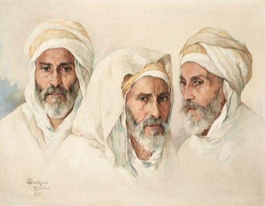 Emile Deckers (Belgian, 1885-1968) - Algerian portraits.