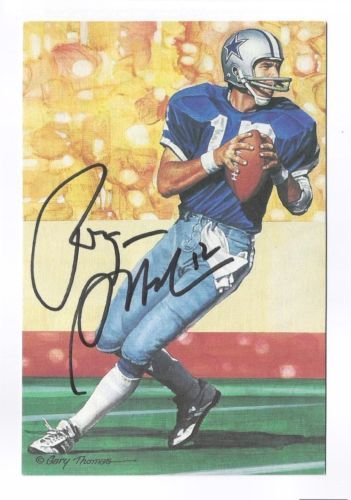 c45e3f29773 ROGER-STAUBACH-Signed-Autographed-GOAL-LINE-ART-CARD-GLAC-Dallas-Cowboys-JSA -COA