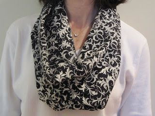 Infinity Scarf: another really quick gift idea.