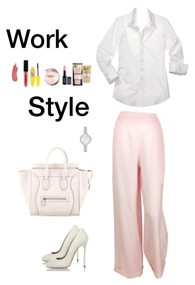 """Work Style"" by irisazlou on Polyvore featuring mode, Chanel, Garnier, Maybelline, NYX, CÉLINE, Dsquared2 et Kate Spade"