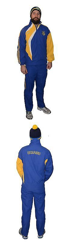 Other Soccer Clothing and Accs 159179: Ukrainian Football Soccer Tracksuit Jacket And Pants Set Ukraine Sport Costume BUY IT NOW ONLY: $69.99