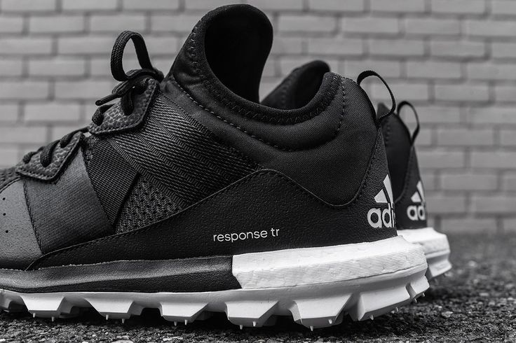 adidas Response Trail Boost Releases in Black/White