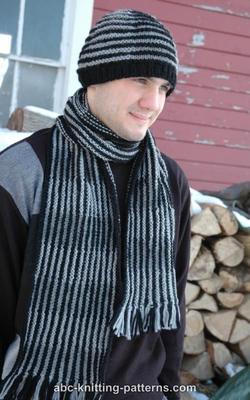 ABC Knitting Patterns - Shadow Knitting Scarf