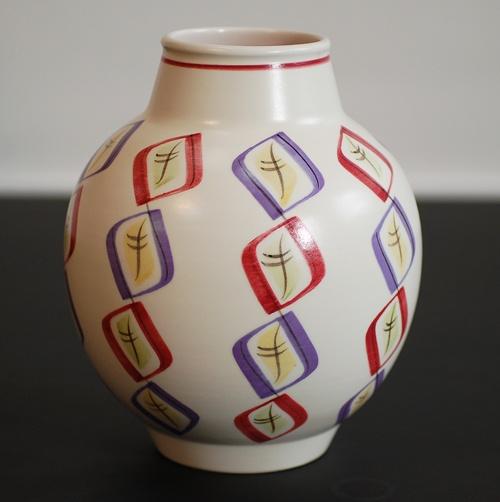 1950s Poole Pottery 'Harlequin' Vase