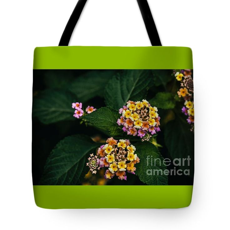"Colorful Flowers Tote Bag 18"" x 18"""