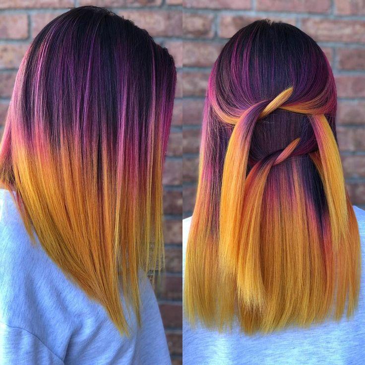 Sunset hair color Hair Artist (@stephanyvanstone) on Instagram