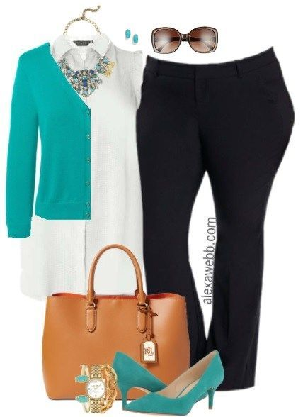 Plus Size Summer Work Outfit - Plus Size Fashion for Women - alexawebb.com #alexawebb
