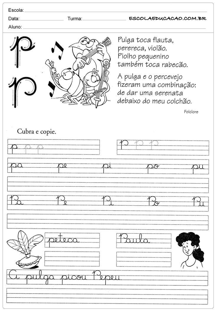 Atividade de caligrafia letra P