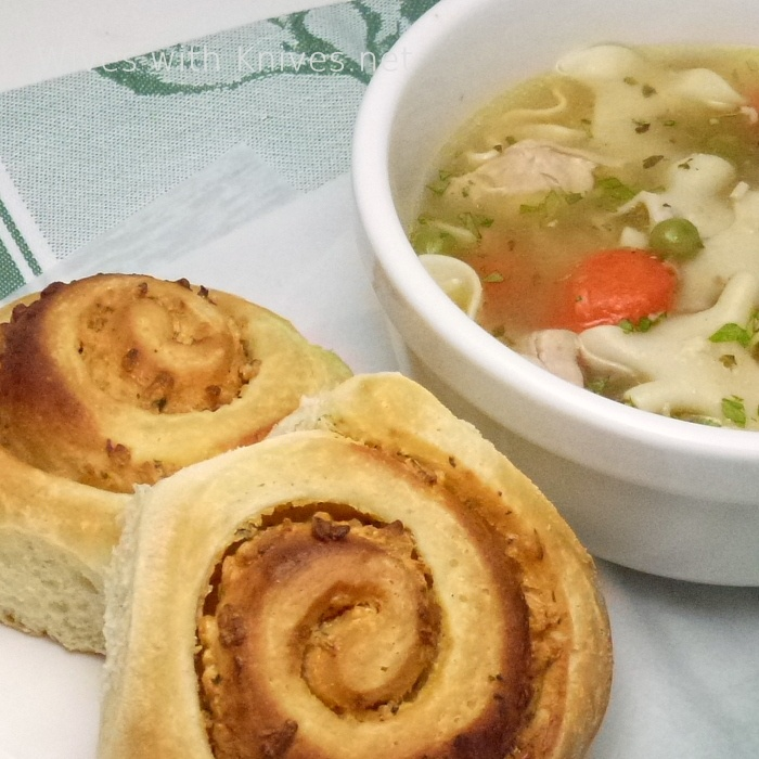 Cheese and Onion Swirls - great with a steamy bowl of soup