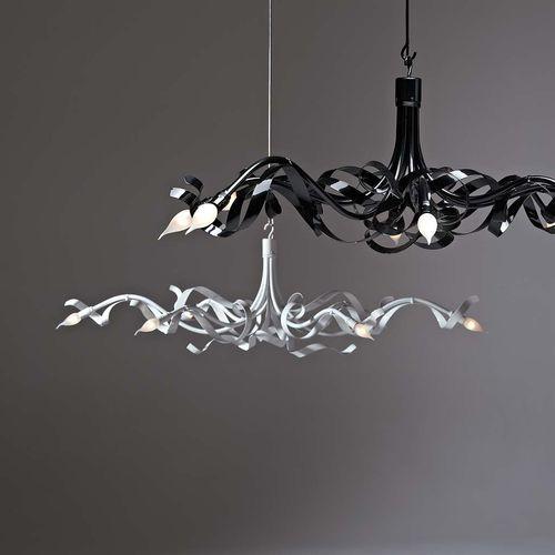 Lampadario moderno / in ottone / in acciaio / alogeno RUBAN PLIÉ Jacco Maris Design