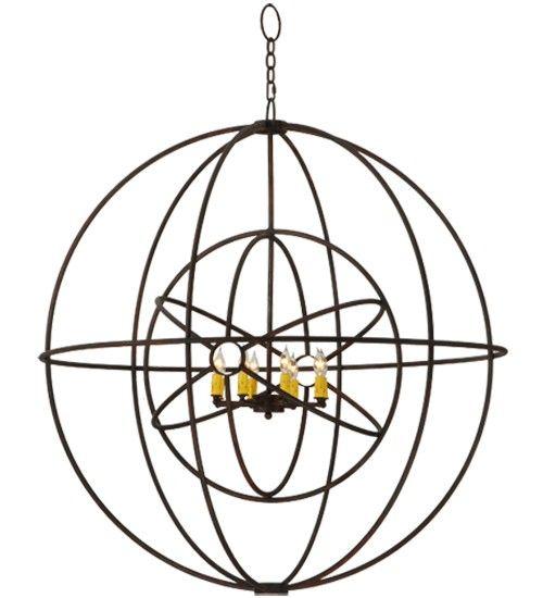 Atomic Synergy 8 Light Sphere Chandelier